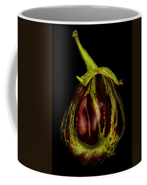 Eggplant Coffee Mug featuring the photograph Eggplant From Jennifers' Garden by Robert Woodward