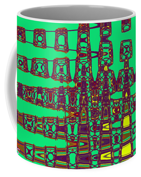 Abstract Coffee Mug featuring the digital art Egyptian by John Saunders