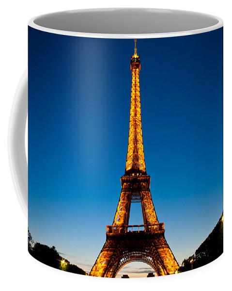 Eiffel Tower Coffee Mug featuring the photograph Eiffel Tower At Dusk by Anthony Doudt