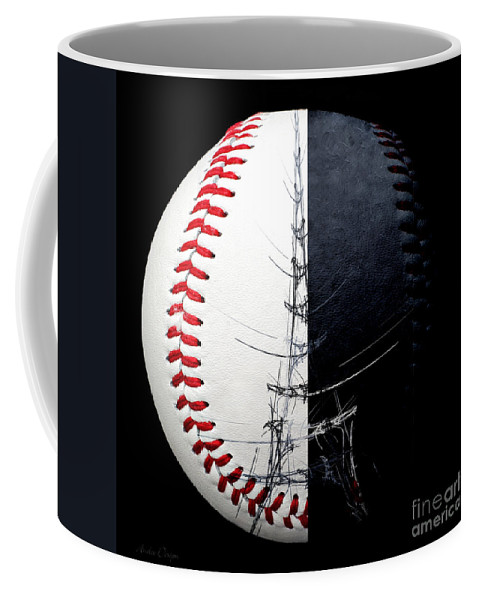 Baseball Coffee Mug featuring the photograph Eiffel Tower Baseball Square by Andee Design