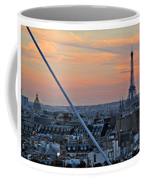 Eiffel Coffee Mug featuring the photograph Eiffel Tower From Above by Joan Minchak