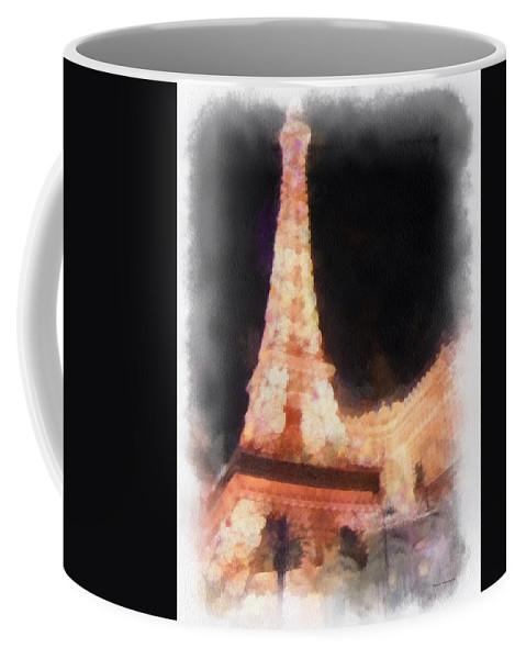 Eiffel Tower Paris Las Vegas Coffee Mug featuring the photograph Eiffel Tower Paris Las Vegas Photo Art by Thomas Woolworth