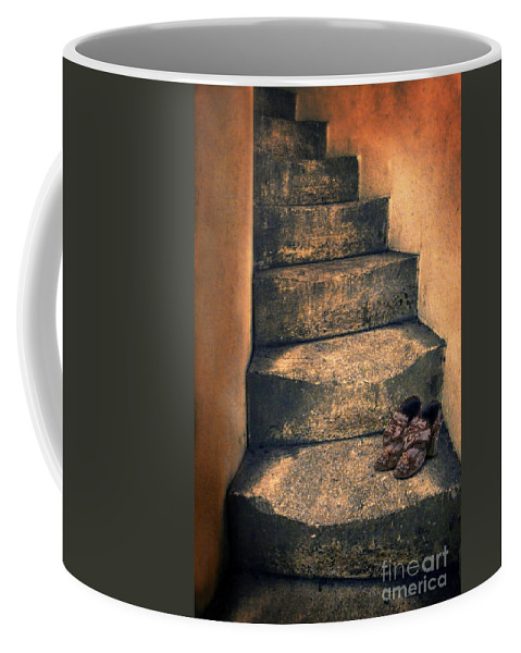 Stairs Coffee Mug featuring the photograph Eighteenth Century Shoes On Old Stairway by Jill Battaglia