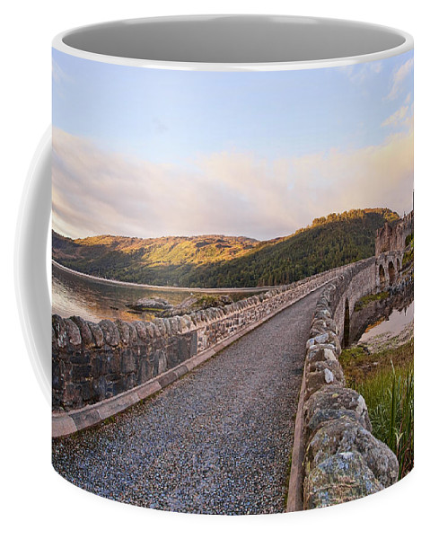 Castle Coffee Mug featuring the photograph Eilean Donan Castle Entry by Marcia Colelli