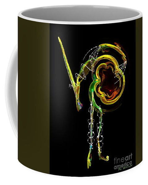 Matador Coffee Mug featuring the digital art El Asesino En Su Traje De Luces by RC DeWinter