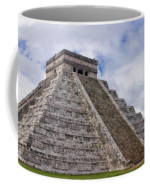 3scape Photos Coffee Mug featuring the photograph El Castillo by Adam Romanowicz