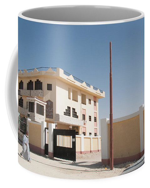 El Farafar Oasis Coffee Mug featuring the digital art El Farafar Oasis by Carol Ailles