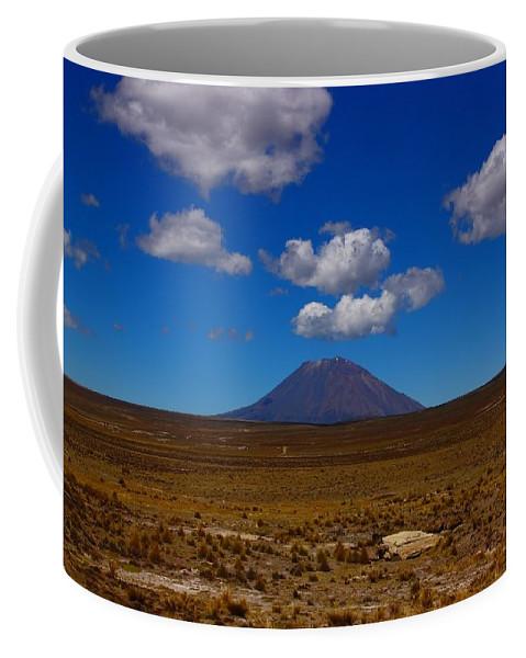 Peru Coffee Mug featuring the photograph El Misti by FireFlux Studios