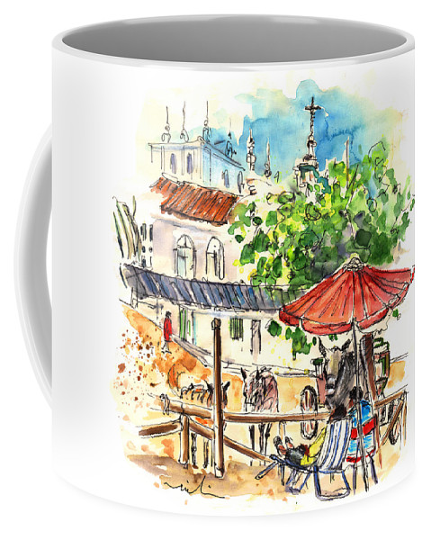 Travel Coffee Mug featuring the painting El Rocio 01 by Miki De Goodaboom