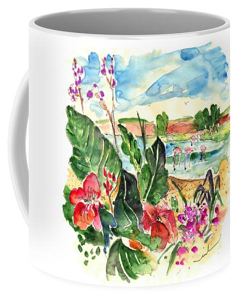 Travel Coffee Mug featuring the painting El Rocio 06 by Miki De Goodaboom