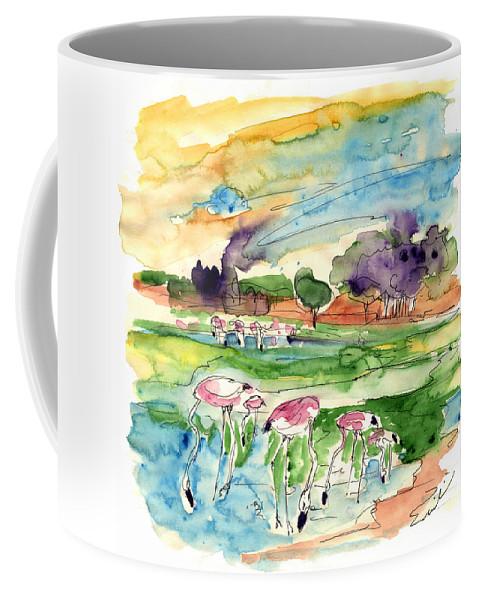 Travel Coffee Mug featuring the painting El Rocio 09 by Miki De Goodaboom