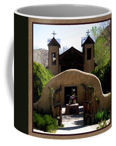 Santuario De Chimayo Coffee Mug featuring the photograph El Santuario De Chimayo by Kurt Van Wagner