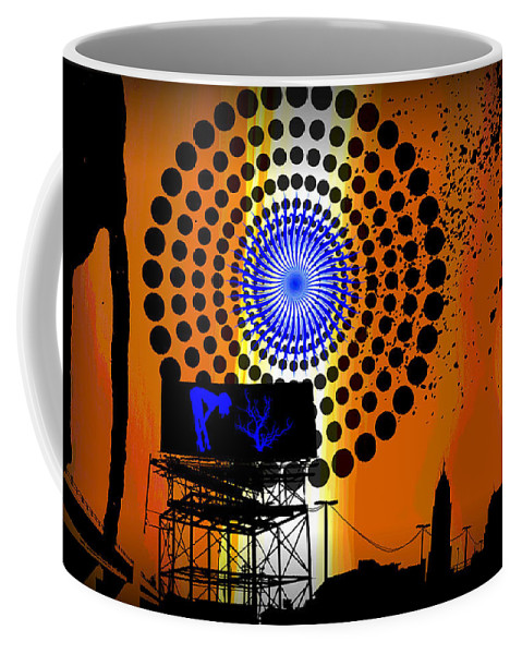 Electric Coffee Mug featuring the digital art Electric Avenue by Michael Damiani