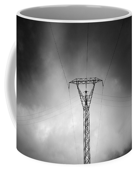 Sierra Nevada National Park Coffee Mug featuring the photograph Electrical Symmetries by Guido Montanes Castillo