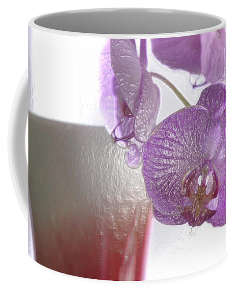 Orchid Coffee Mug featuring the photograph Elegance And Refinement by Lyriel Lyra