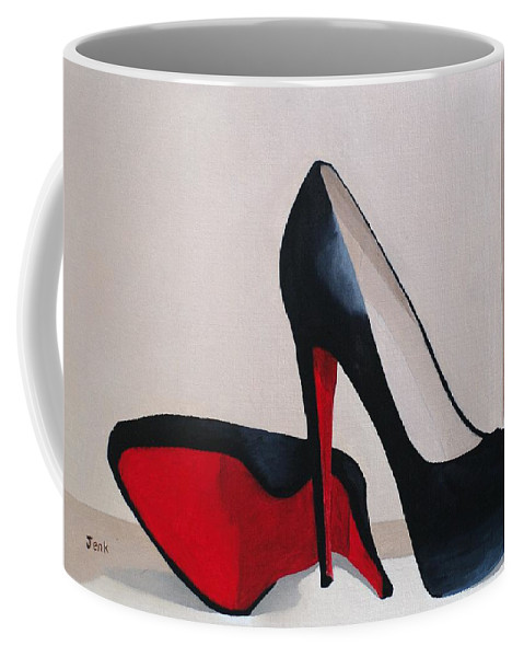 Fashion Paintings Coffee Mug featuring the painting Elegance by Rebecca Jenkins