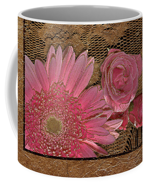 Flowers Coffee Mug featuring the photograph Elegant Gold Lace by Phyllis Denton