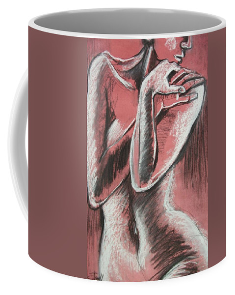 Original Coffee Mug featuring the painting Elegant Pink - Nudes Gallery by Carmen Tyrrell