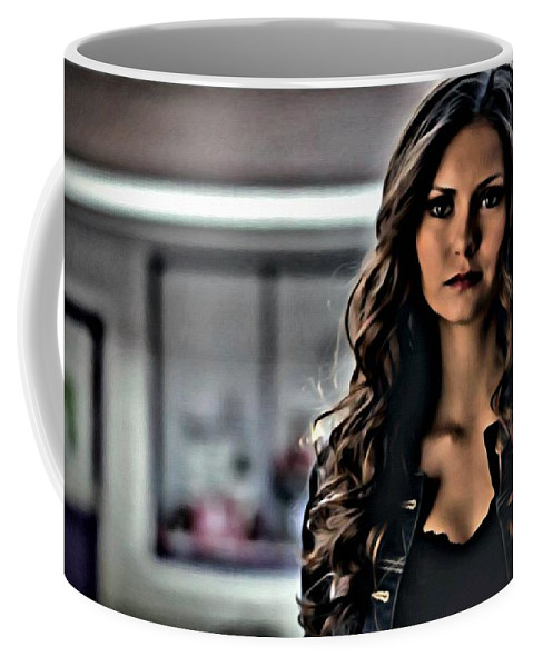 Elena Gilbert Coffee Mug featuring the painting Elena by Florian Rodarte