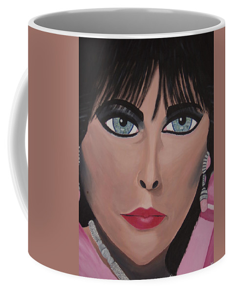 Famous Actress Coffee Mug featuring the painting Elitay by Dean Stephens