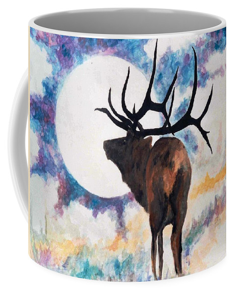Lyle Coffee Mug featuring the painting Elk by Lord Frederick Lyle Morris - Disabled Veteran