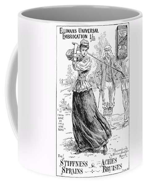 1895 Coffee Mug featuring the photograph Ellimans Remedy, 1895 by Granger