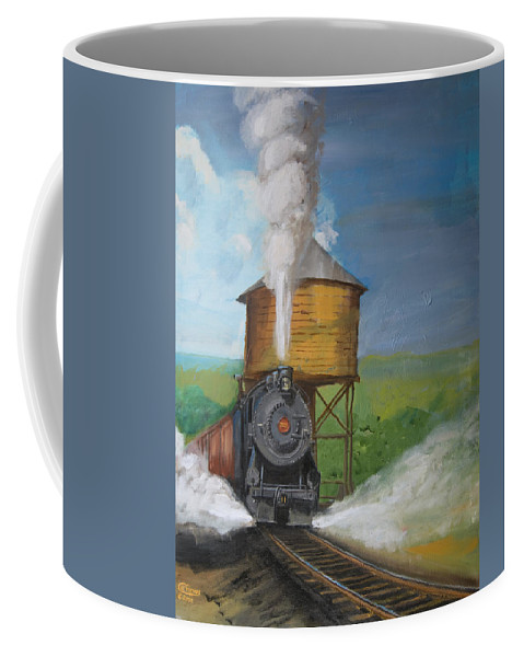 Pennsylvania Coffee Mug featuring the painting Elmira Branch by Christopher Jenkins