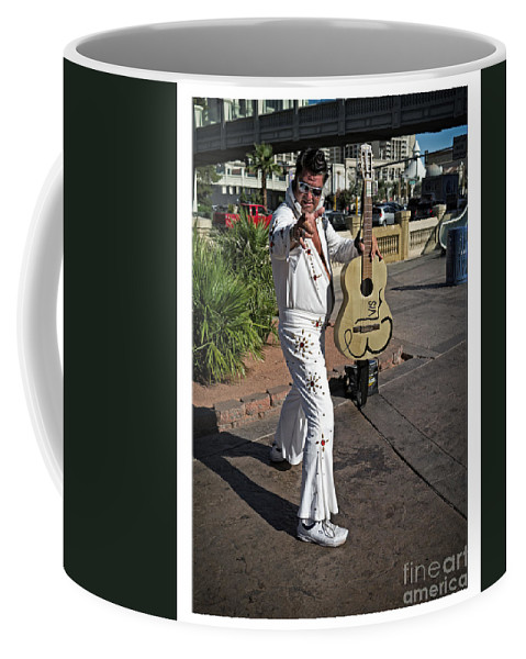 Elvis Coffee Mug featuring the photograph Elvis Presley by Edward Fielding