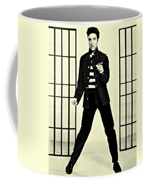Elvis Presley Jailhouse Rock Coffee Mug featuring the photograph Elvis Presley Jailhouse Rock by Movie Poster Prints