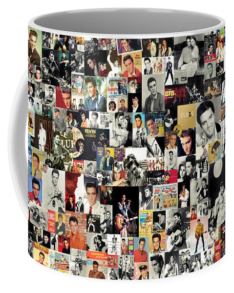 Elvis Presley Coffee Mug featuring the digital art Elvis The King by Zapista OU