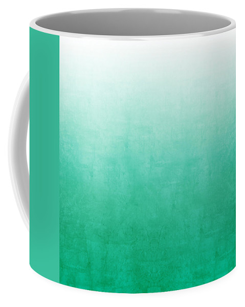 Abstract Coffee Mug featuring the mixed media Emerald Bay by Linda Woods