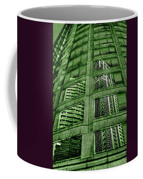 Seattle Coffee Mug featuring the photograph Emerald City Reflections - Seattle Washington by David Patterson