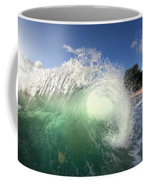 Ocean Energy Coffee Mug featuring the photograph Emerald Flare by Sean Davey