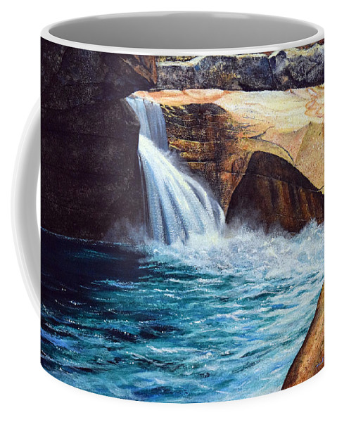 Emerald Pool Coffee Mug featuring the painting Emerald Pool by Frank Wilson