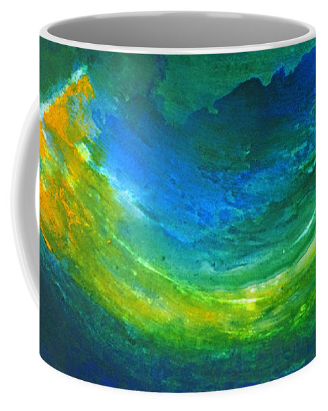 Ufo Coffee Mug featuring the painting Emergence by Todd Karleskein