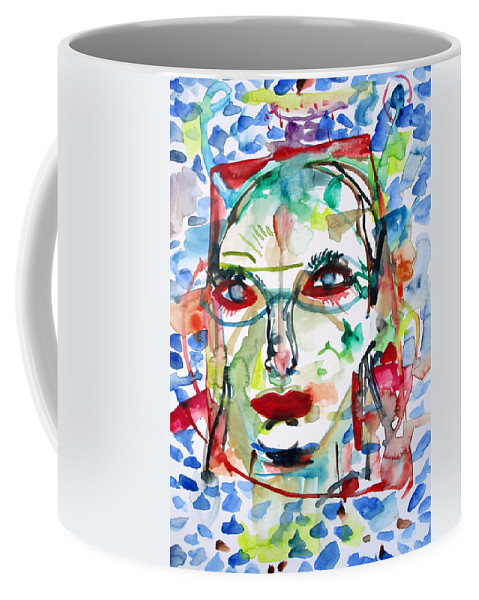 Woman Coffee Mug featuring the painting Emotional Rescue by Fabrizio Cassetta
