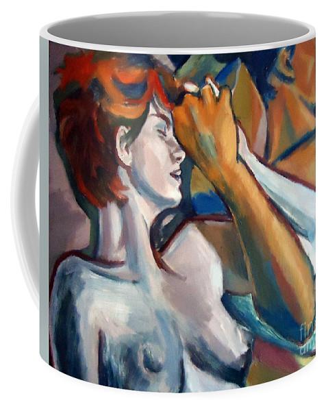 Nude Figures Coffee Mug featuring the painting Empathy by Helena Wierzbicki
