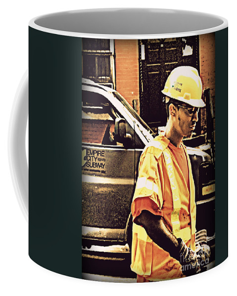 Street Scene Coffee Mug featuring the photograph Empire City by Miriam Danar