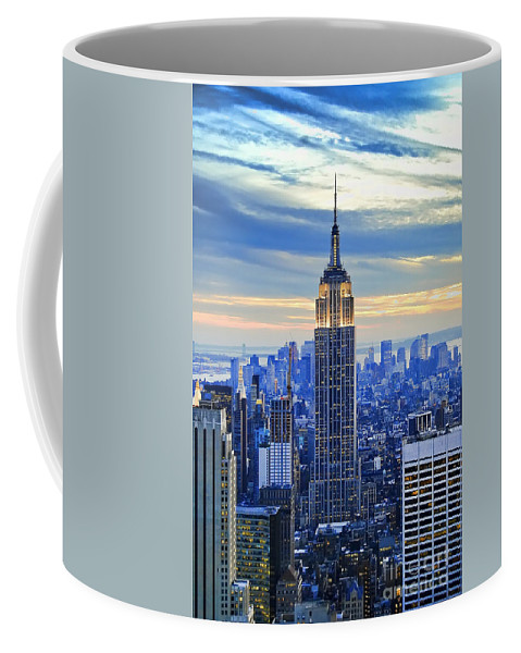 New York City Coffee Mug featuring the photograph Empire State Building New York City USA by Sabine Jacobs