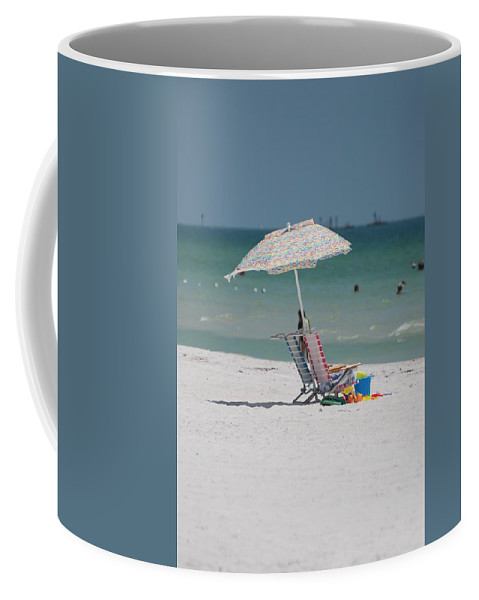 Nautical Coffee Mug featuring the photograph Empty Chairs by Rob Hans