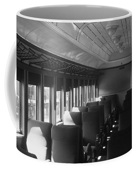 Railroad Coffee Mug featuring the photograph Empty Railway Coach by Rodney Lee Williams