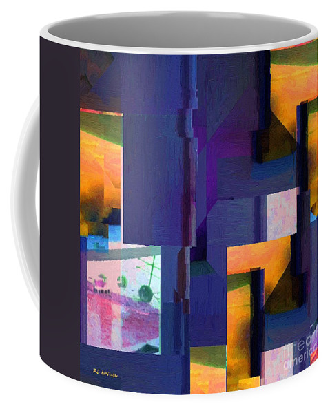 Abstract Coffee Mug featuring the painting Encroachment by RC DeWinter