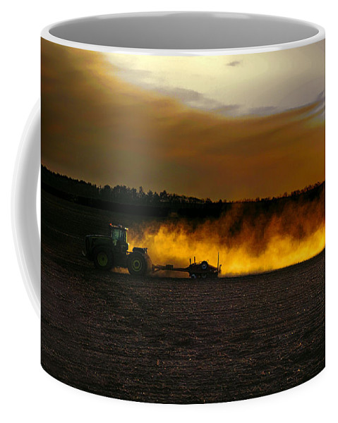 Farming Coffee Mug featuring the photograph End Of The Day In The Field by Tommy Anderson