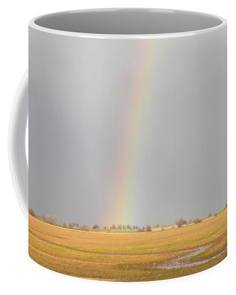 Rainbow Coffee Mug featuring the photograph End Of The Rainbow by Annie Adkins