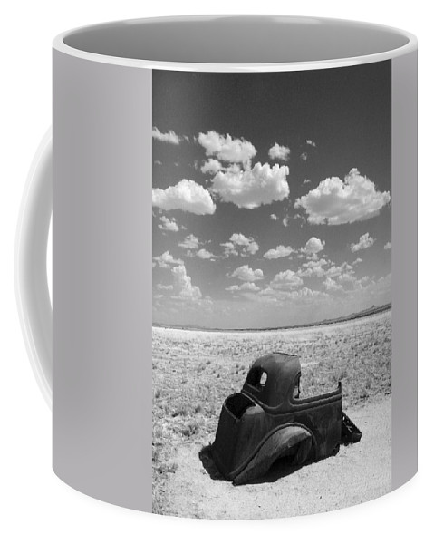 Car Coffee Mug featuring the photograph End Of The Road by Joe Kozlowski
