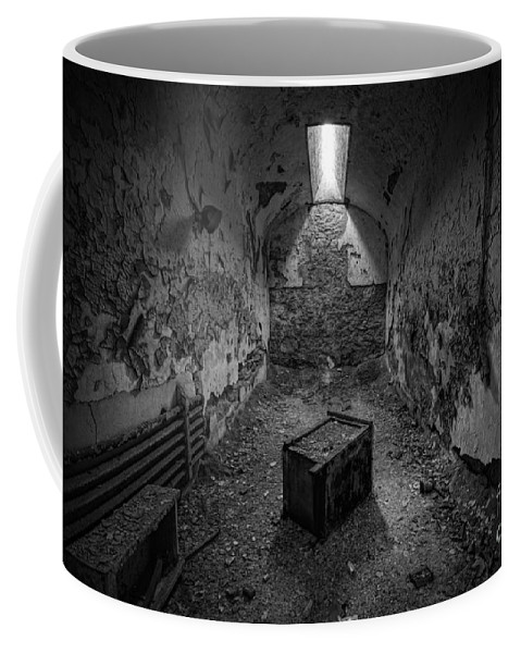 Pa Coffee Mug featuring the photograph End Table Bw by Michael Ver Sprill