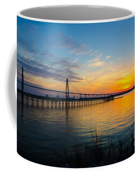 Sunset Coffee Mug featuring the photograph End To The Day by Dale Powell