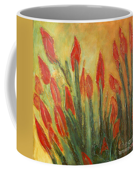 Flower Coffee Mug featuring the painting Endangered Species by Tonya Henderson