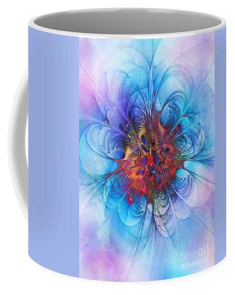 Abstract Coffee Mug featuring the digital art Endless Waltz by Klara Acel