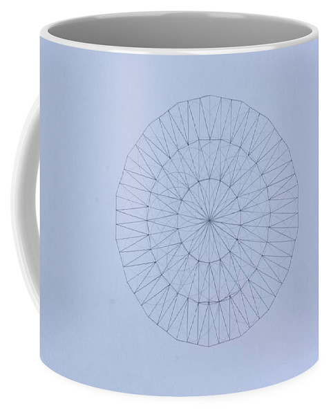 Jason Padgett Coffee Mug featuring the drawing Energy Wave 20 Degree Frequency by Jason Padgett